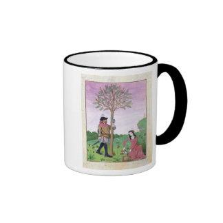 Drawing sap from a tree ringer mug