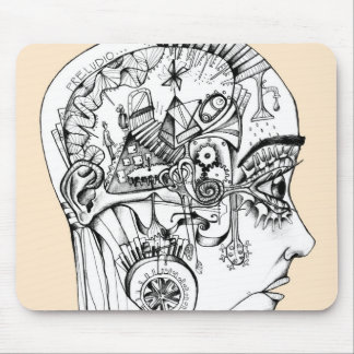 drawing to pencil, original illustration mouse pad