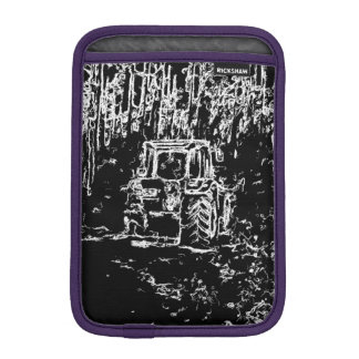 drawing tractor and nature iPad mini sleeves