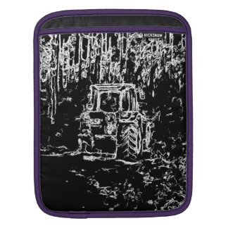 drawing tractor and nature iPad sleeves