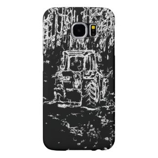 drawing tractor and nature samsung galaxy s6 case