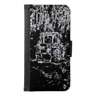 drawing tractor and nature samsung galaxy s6 wallet case
