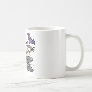 drawing young girl gothic coffee mug
