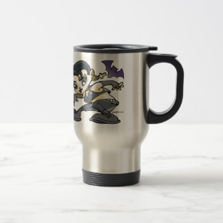 drawing young girl gothic travel mug