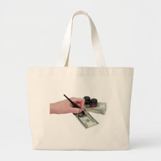 DrawingMoney041809 Large Tote Bag