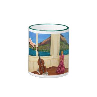 Drawn Away Ringer Coffee Mug