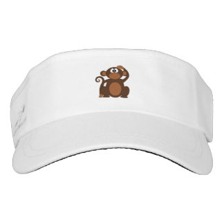 Drawn Brown Cartoon monkey scratching head Visor