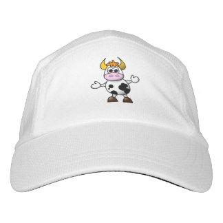 Drawn Cartoon Black and White Cow Bull Headsweats Hat