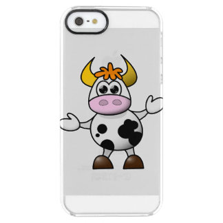 Drawn Cartoon Black and White Cow Bull Uncommon Clearly™ Deflector iPhone 5 Case