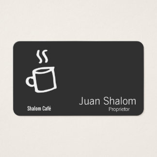 Drawn Coffee Cup Business Card
