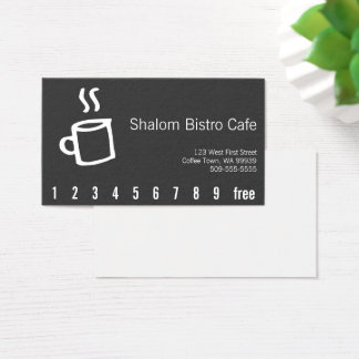 Drawn Coffee Cup Loyalty Punch Card