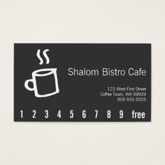 Drawn Coffee Cup Loyalty Punch Card