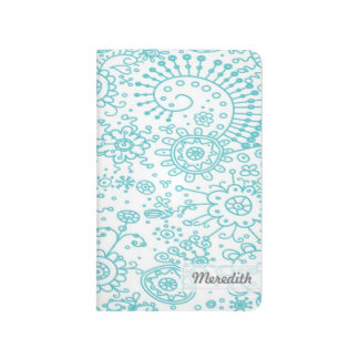 Drawn Doodles Customized Pocket Journal (aqua)