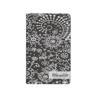 Drawn Doodles Customized Pocket Journal (black)