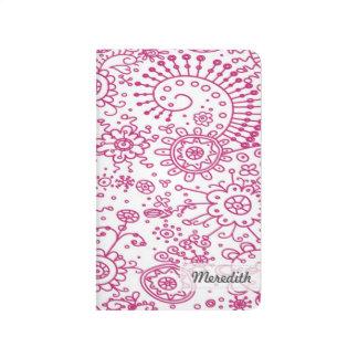 Drawn Doodles Customized Pocket Journal (fuchsia)