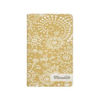 Drawn Doodles Customized Pocket Journal (gold)