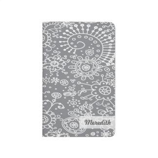 Drawn Doodles Customized Pocket Journal (grey)