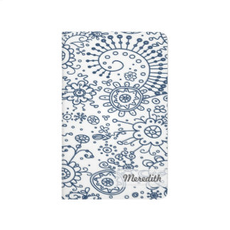 Drawn Doodles Customized Pocket Journal (navy)