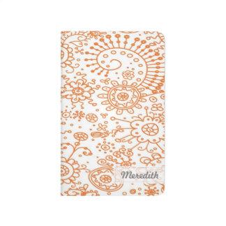 Drawn Doodles Customized Pocket Journal (orange)