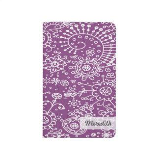 Drawn Doodles Customized Pocket Journal (purple)