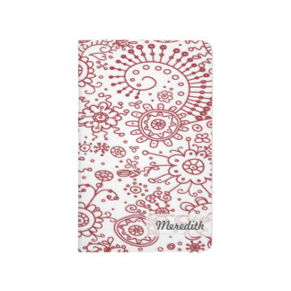 Drawn Doodles Customized Pocket Journal (red)