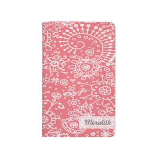 Drawn Doodles Customized Pocket Journal (rose)