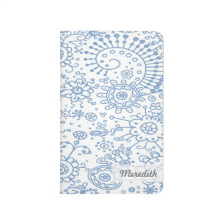 Drawn Doodles Customized Pocket Journal (thistle)