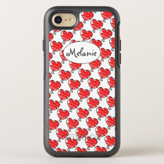 Drawn Hearts OtterBox Symmetry iPhone 7 Case