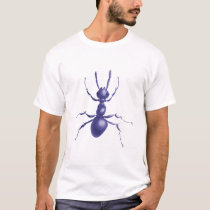 Drawn Purple Ant Mens T-Shirt