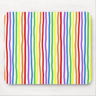 Drawn Rainbow Stripe Mouse Pad