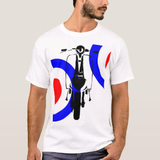 Drawn Scooter on half mod target T-Shirt