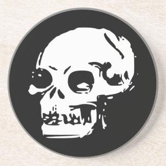 Drawn Skull Sandstone Coaster