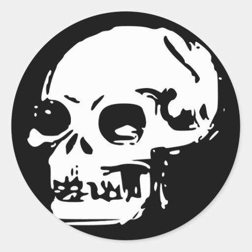 Drawn Skull Stickers