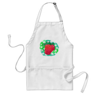 Drawn Strawberry on an Apron