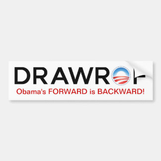 DRAWROF Barack Obama DELANTERO es pegatina Pegatina Para Auto