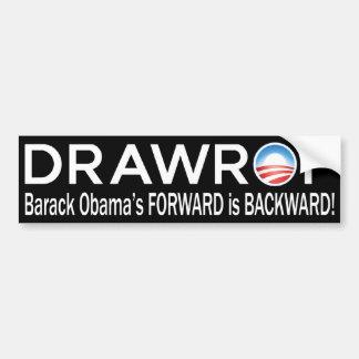 DRAWROF Barack Obama's FORWARD is BACKWARD Bumper Sticker