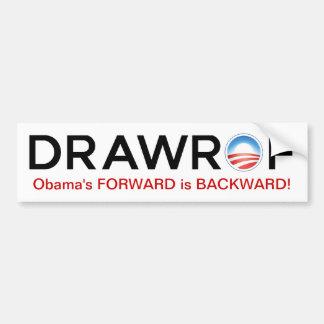 DRAWROF Barack Obama's FORWARD is BACKWARD Sticker Car Bumper Sticker