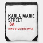 Karla marie STREET   Drawstring Backpack