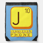 J JENNIFER'S PHONE  Drawstring Backpack