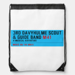 3rd Davyhulme Scout & Guide Band  Drawstring Backpack