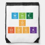 Wine o clock  Drawstring Backpack