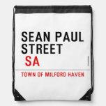 Sean paul STREET   Drawstring Backpack