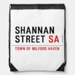 Shannan Street  Drawstring Backpack