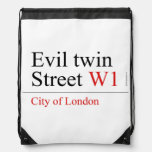 Evil twin Street  Drawstring Backpack