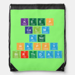 KEEP CALM AND HAPPY BIRTHDAY  Drawstring Backpack