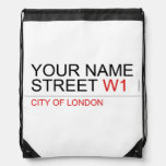 Your Name Street  Drawstring Backpack