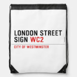 LONDON STREET SIGN  Drawstring Backpack