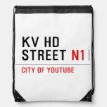 KV HD Street  Drawstring Backpack