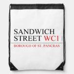 SANDWICH STREET  Drawstring Backpack
