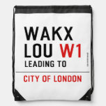 WAKX LOU  Drawstring Backpack